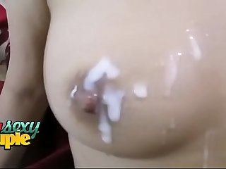 Indian Sonia Bhabhi Cumshot On Her Big Boobs