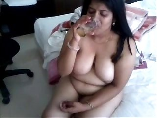 Indian Aunty drinking