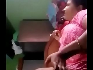 Indian housewife fucked by owner while husband went out