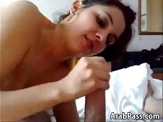 Arab Girl Plays With His Cock In Her Mouth